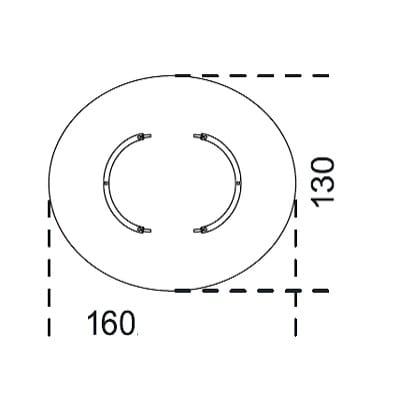 Oval 160x130 Cm