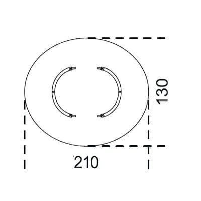 Oval 210x130 cm
