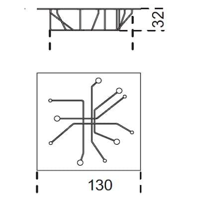 130x130 cm