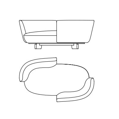 Dormeuse Double Backrest