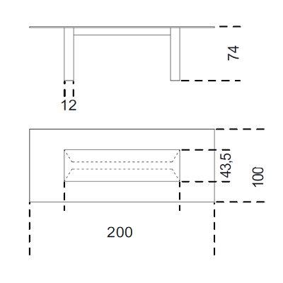 200x100 cm