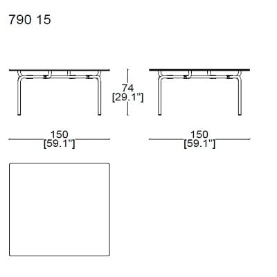 Square 150x150 cm