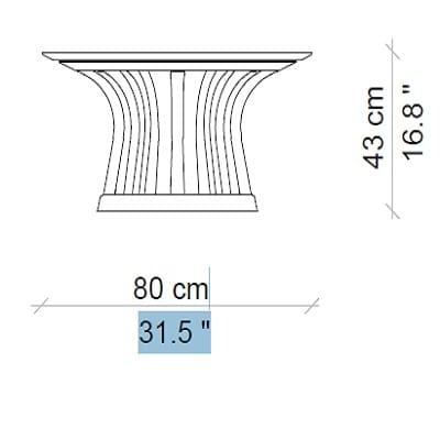 80x43 cm