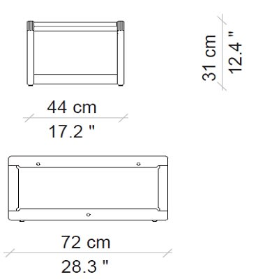 44x72x31 cm