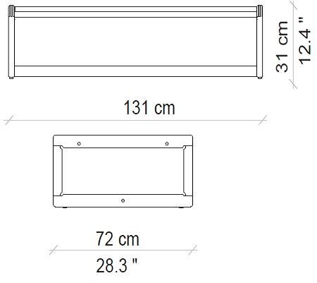 131x72x31 cm