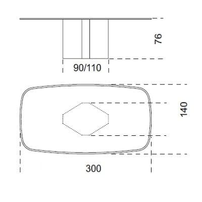 300x140 cm