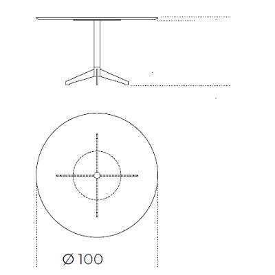 100xH74 cm