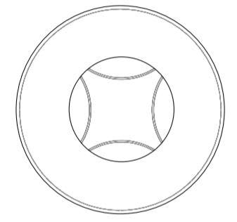 round 180cm