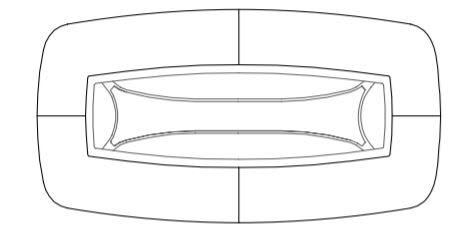 oval 240cm
