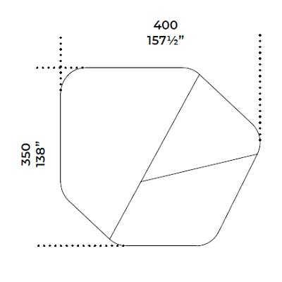 400x350 cm
