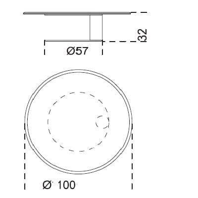100x32 cm
