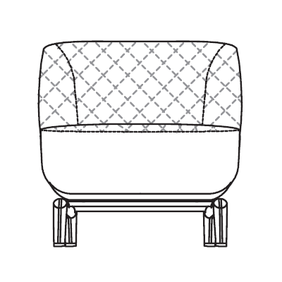 Quilted Armchair