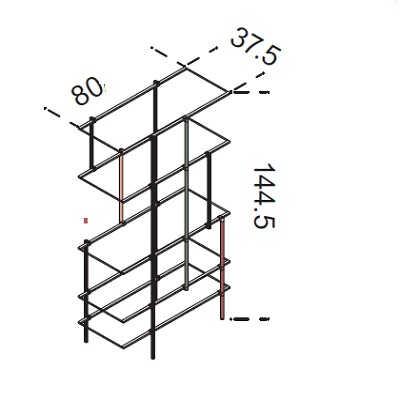 80x144.5 cm