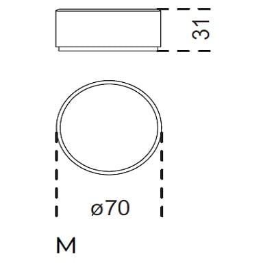 M Ø 70 x 31h
