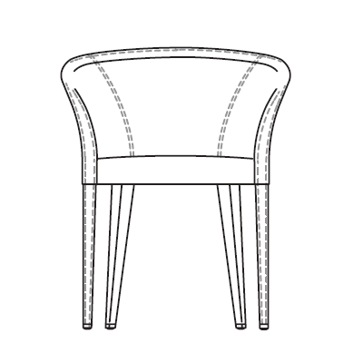 Armchair upholstery saddle leather