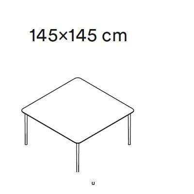 145x145 cm