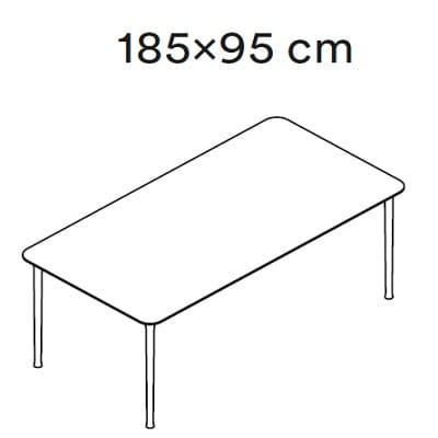 185x95 cm