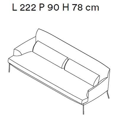 222 cm