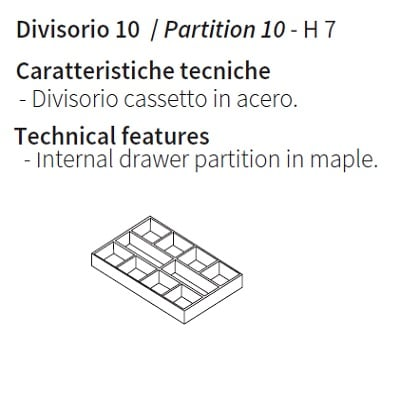 Drawer partition 10