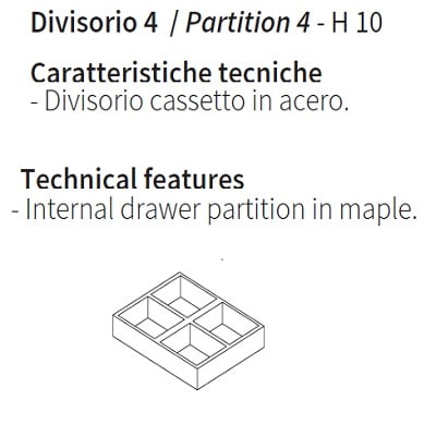 Drawer partition 4