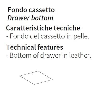 Leather drawer bottom
