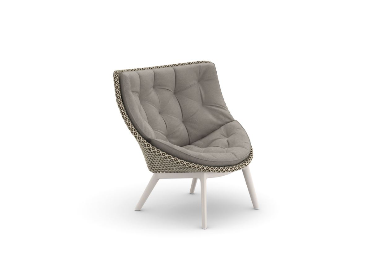 wing chair with metal base