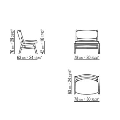 Armchair without armrests