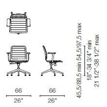LSX35 CB(Base chair 5 spokes with armrests)
