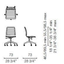 LSX35 CR(Base chair 5 spokes on castors)