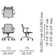 LSX35 CBR(Base chair 5 spokes on castors with armrests)