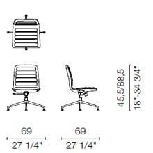 LS3 (Base chair 4 spokes)