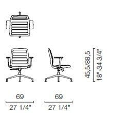 LS3CB(Base chair 4 spokes with armrests)