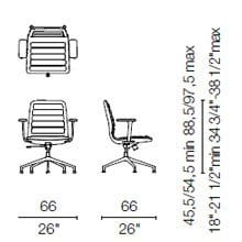 LS 35 CB (Base chair 5 spokes with armrests)