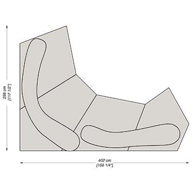 Configuration 5 - 402x298 cm
