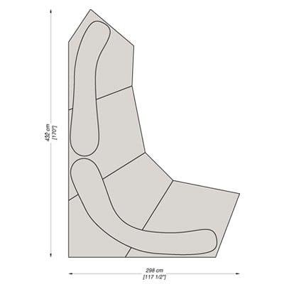 Configuration 4 - 432x298 cm