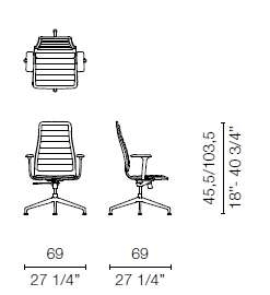 LSX4CB (Base chair 4 spokes with armrests)