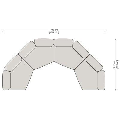 Angolare 8 433x217 cm