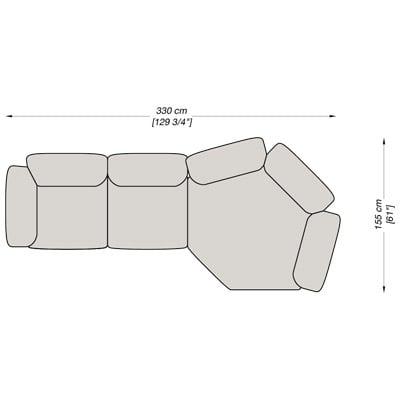 Angolare 2 330x155 cm