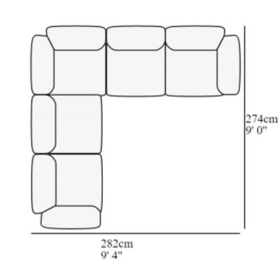 Angular 14 282x274 cm
