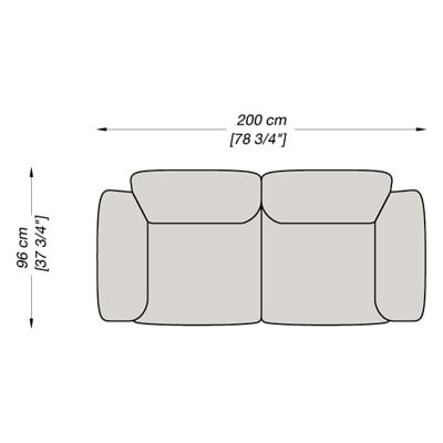 2 Seater 200x96 cm