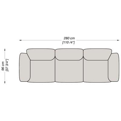 3 Seater 280x96 cm