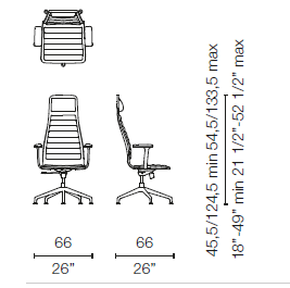 LSX55 CB(Base chair 5 spokes with armrests)