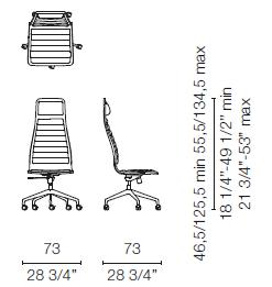 LSX55 CR(Base chair 5 spokes on castors)