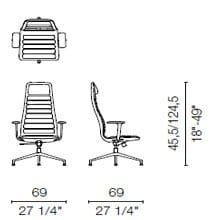 LS5 CB(Base chair 4 spokes with armrests)
