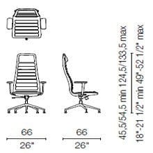 LS 55 CB (Base chair 5 spokes with armrests)