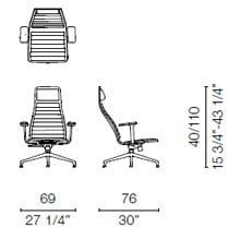 LSX1CB (Armchair with armrests)