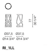 RI/1LL Laquered high stool - +$177.17