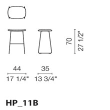 HP11B (Stool with lined seat)