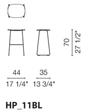 HP11BL (Stool with wood seat)