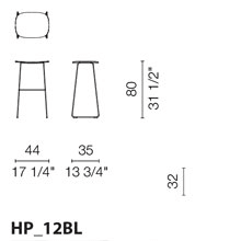 HP12BL (Stool with wood seat)